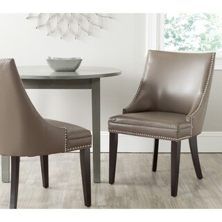 Safavieh Afton Clay Bi-Cast Leather Side Chair (Set of 2)