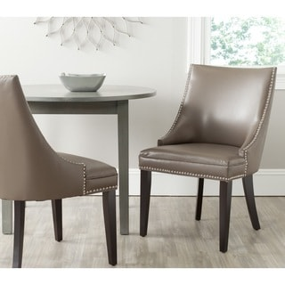 Afton Clay Bi-Cast Leather Side Chair (Set of 2)