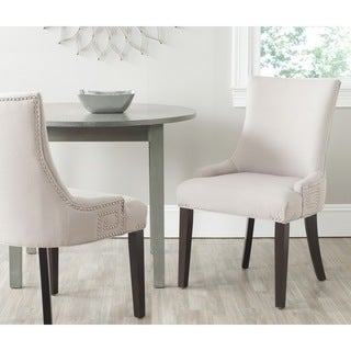 Gretchen Taupe Linen Fabric Side Chair (Set of 2)
