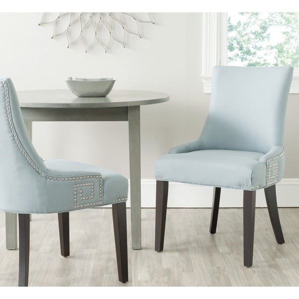 Safavieh Gretchen Light Blue Side Chair (Set of 2)