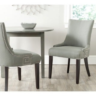 Gretchen Granite Linen Fabric Side Chair (Set of 2)