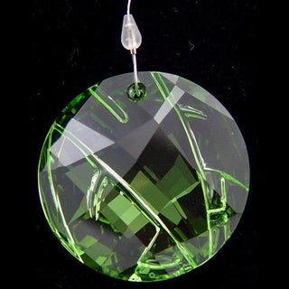 Swarovski Crystal 2008 Round Green Membership Window Ornament