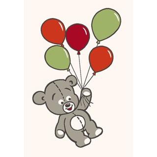Magic Balloon Beige Bear Rug (5'3 x 7'8)
