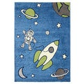 Magic Out in Space Blue Area Rug (5'3 x 7'7)