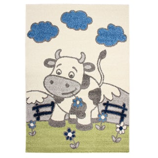 Magic Happy Cow Beige Area Rug (3'11 x 5'7)