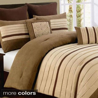 Jackson 8-Piece Chocolate/ Burgundy Comforter Set