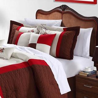 York Brown 12-piece Comforter Set