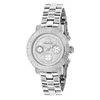 Luxurman Iced Out Women's 1/3ct Diamond Watch