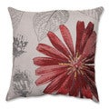 Red Daisy 18-inch Throw Pillow