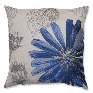 Dark Blue Daisy 18-inch Throw Pillow
