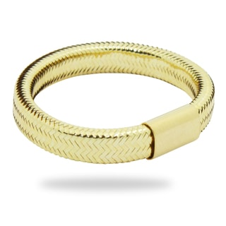 Gioelli Gioelli 14k Yellow Gold Woven Mesh Band
