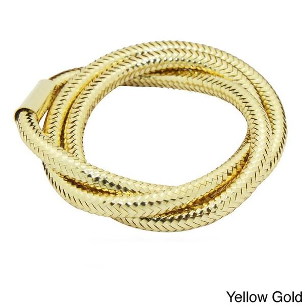 Gioelli Gioelli 14k Gold Triple Mesh Snake Skin Ring