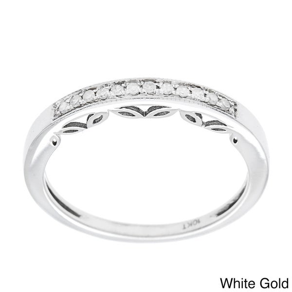 10k Gold 1/5ct Vintage Style Diamond Band (G-H, I1-I2)