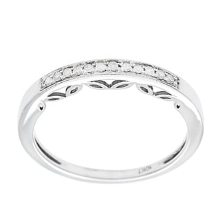 10k White Gold 1/5ct Vintage Style Diamond Band (G-H, I1-I2)