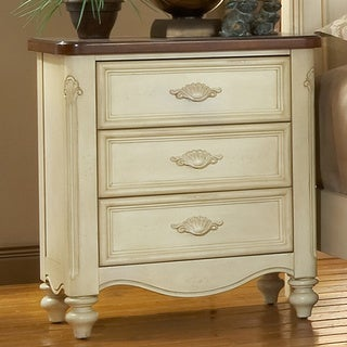 Crescent Manor White Nightstand