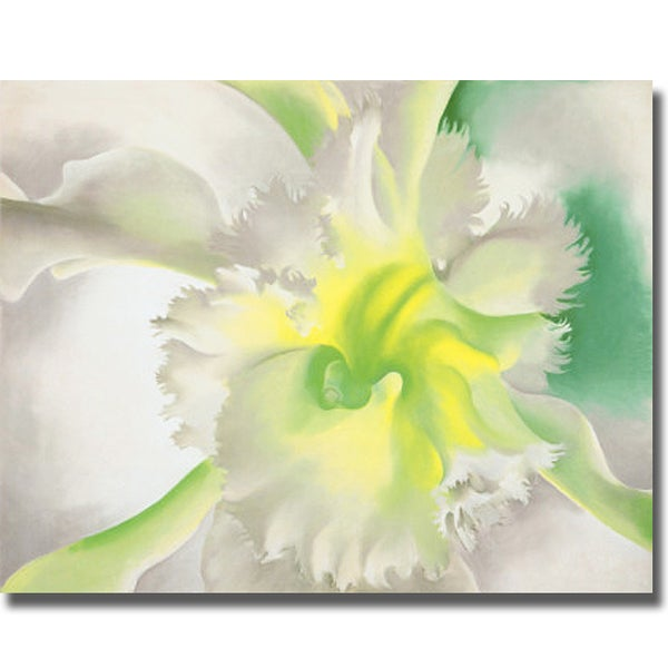 Georgia O'Keeffe 'An Orchid' Canvas Art