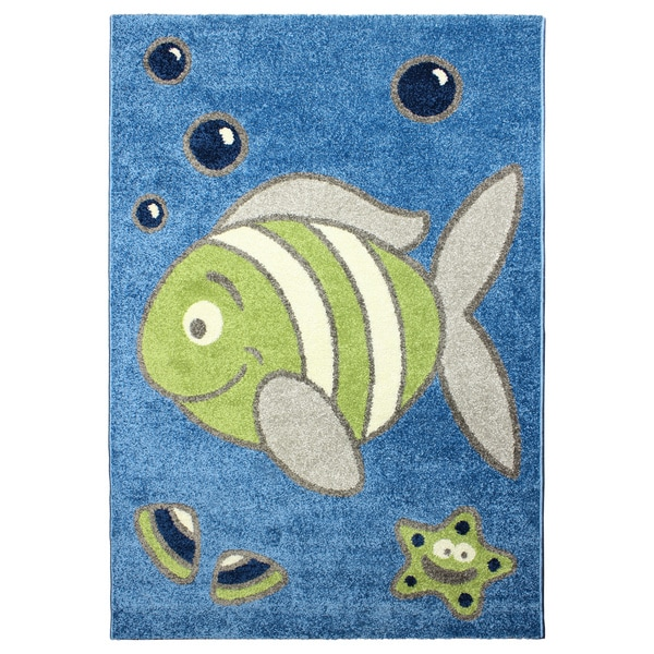 Magic Under the Sea Rug Blue Area Rug (3'11 x 5'7)