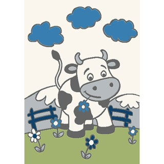 Magic Happy Cow Rug (5'3 x 7'8)