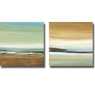 Cat Tesla 'Horizons I and II' 2-piece Canvas Art Set