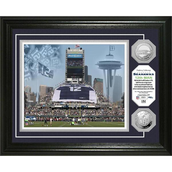 Seattle Seahawks 12th Man Silver Coin Photo Mint