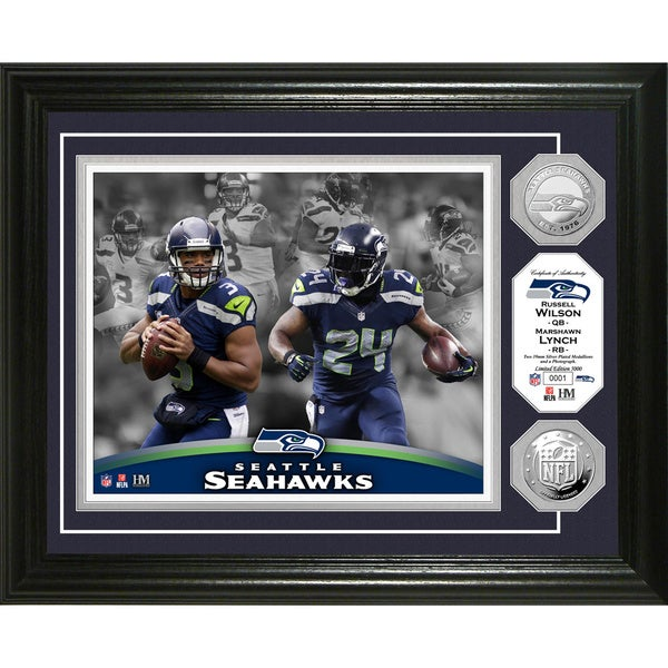 Seattle Seahawks Beast Mode Silver Coin Photo Mint