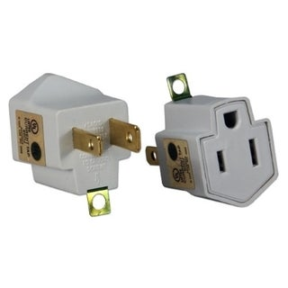 QVS 2-Pack 3-Prong to 2-Prong Power Adaptor