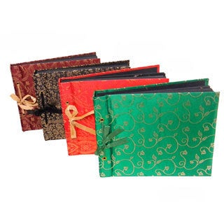 Small Handcrafted Ornate Scrapbook and Handmade Paper Pages (India)