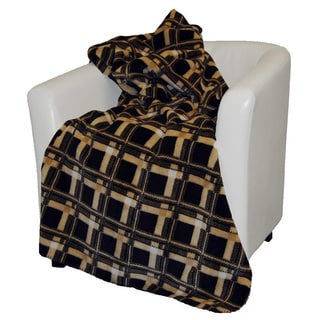 Denali Brown and Gold Bungalow Plaid Throw Blanket