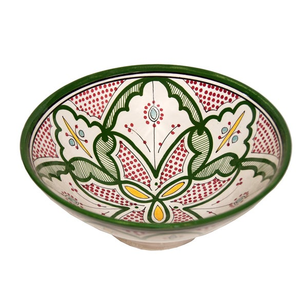 Ceramic Bowls Moroccan Handmade Serving Exquisite Piece with Vivid Colors 12039122