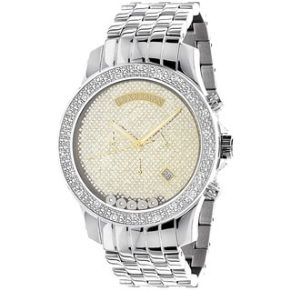 Luxurman Men's 1/3ct Diamond Watch