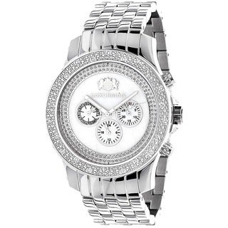 Luxurman Men's Designer 1/4ct Diamond Watch