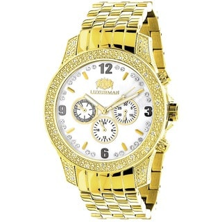 Luxurman Men's 1/2ct Diamond Chronograph Watch