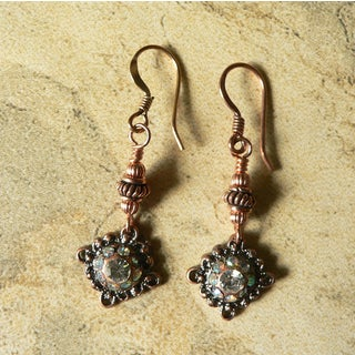 'Iman' Copper Dangle Earrings