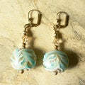 'Sylvia' Lampworked Glass Dangle Earrings