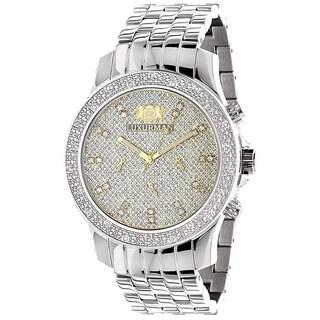 Luxurman Men's 1/4ct Diamond Automatic Watch