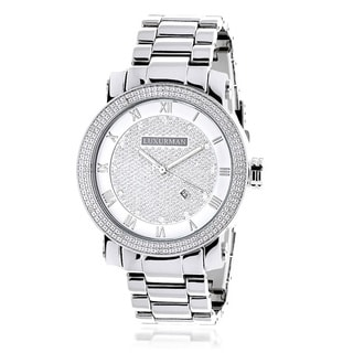 Luxurman Men's 0.12ct Diamond Watch