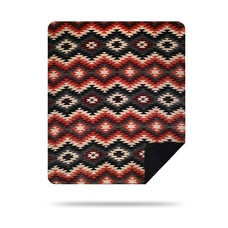 Denali Orange and Black Starburst Throw Blanket