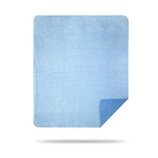 Denali Blue and White Gingham Throw Blanket