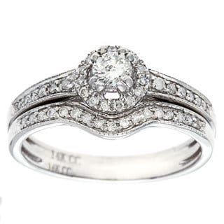 14K White Gold 1/2ct TDW Diamond Bridal Set (G-H, I1)