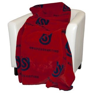 Denali Red and Atlantic Blue USS Throw Blanket
