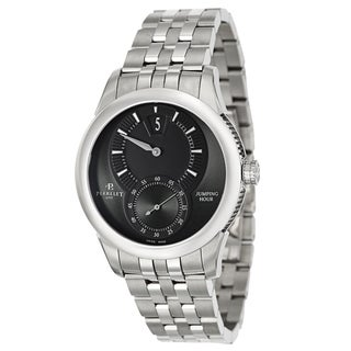 Perrelet Men's 'Specialties Jumping Hour' Stainless Steel Bracelet Jumping Hour Watch