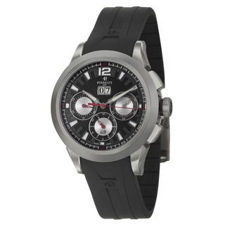 Perrelet Men's Titanium 'Big Date' Chronograph Watch