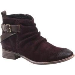 Women's Diba True Ris Kee Burgundy Suede/Dark Brown Leather