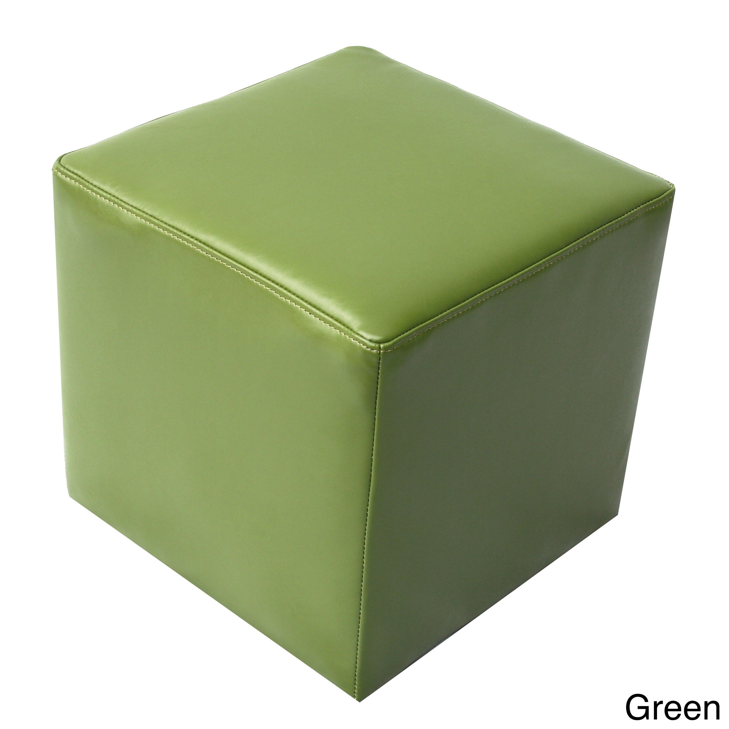 Overstock.com Bonded Leather Cube Contemporary Ottoman at Sears.com