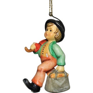 M I Hummel Resin Decoration Merry Wanderer Ornament