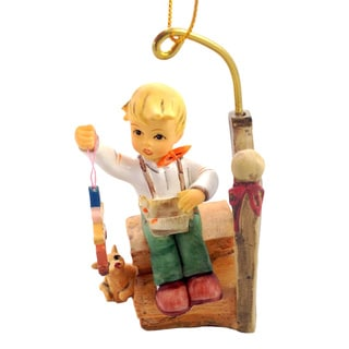 M I Hummel Boy Wishes Come True Ornament