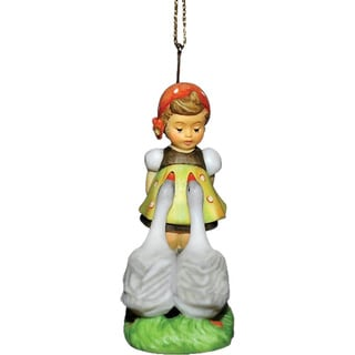 M I Hummel Resin Decoration Goose Girl Ornament
