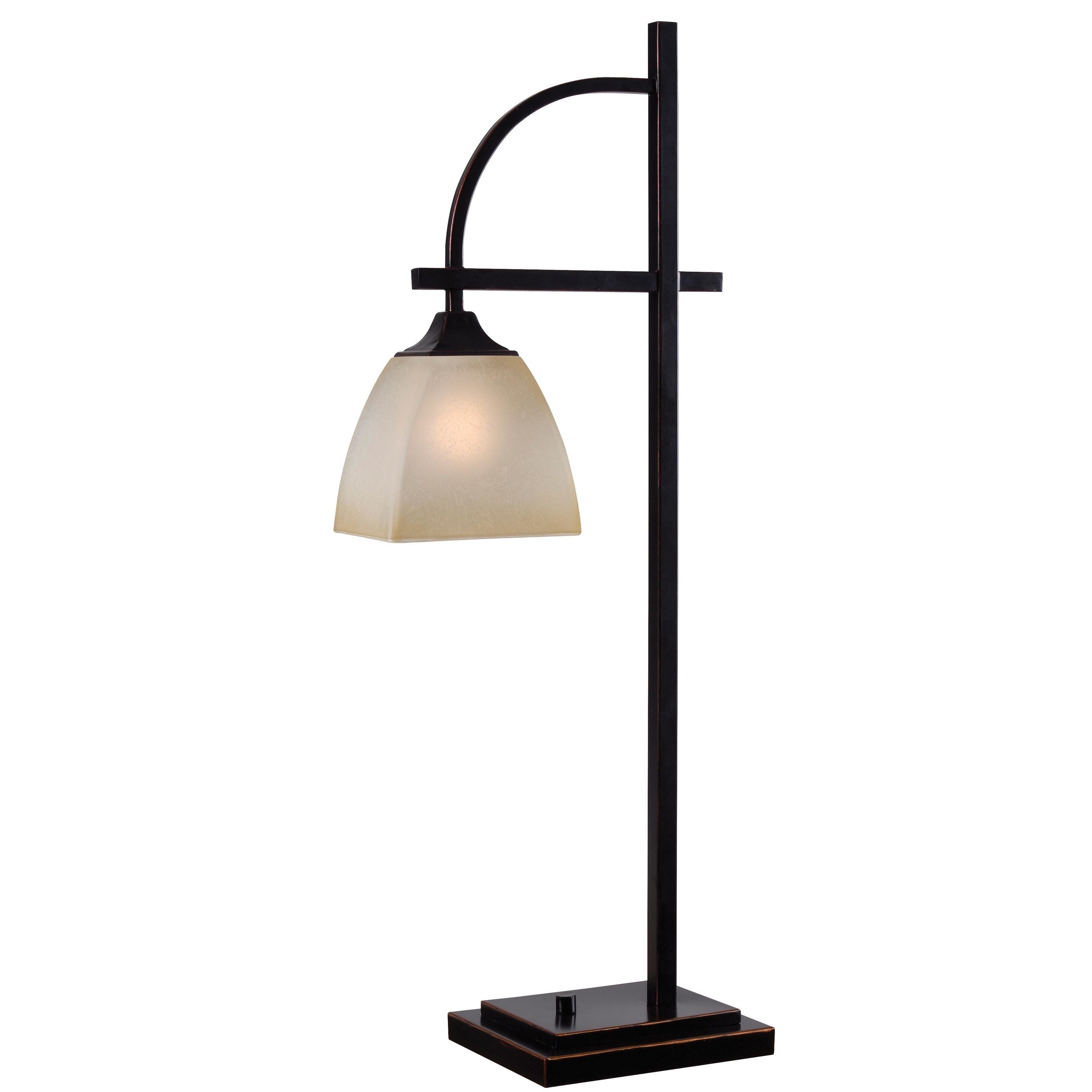 colmar square glass shade bronze finish 1 light table lamp. Black Bedroom Furniture Sets. Home Design Ideas