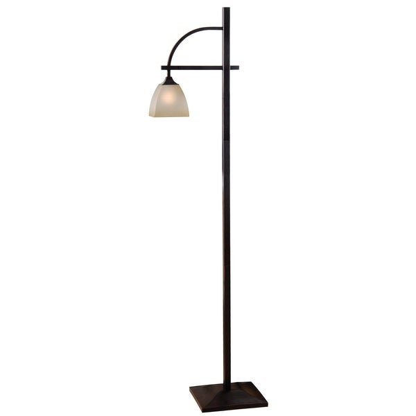 Colmar Square Glass Shade Bronze Finish 1-light Floor Lamp (As Is Item)