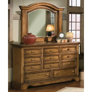 Rustic Escape 8-drawer Dresser and Optional Mirror